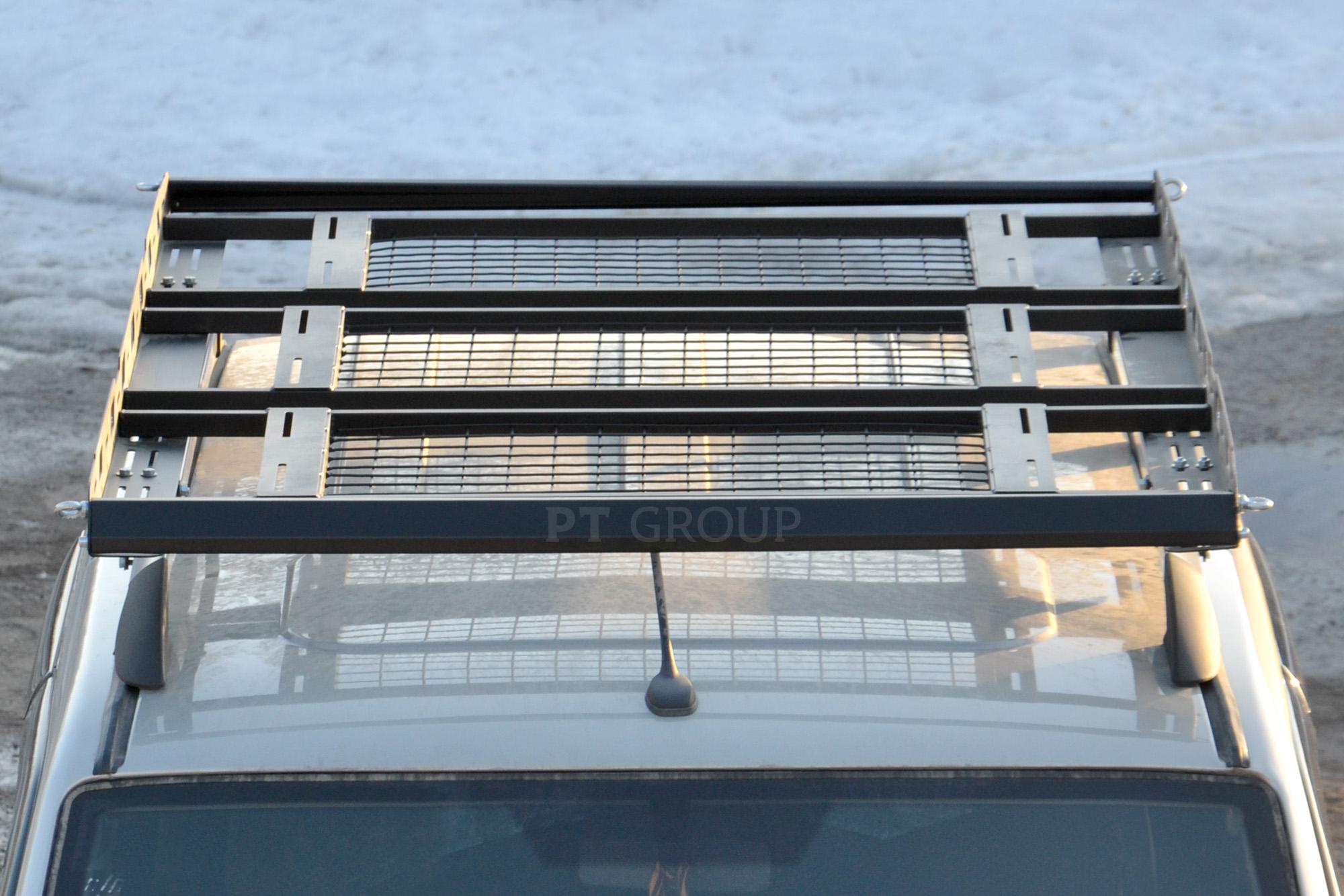 Багажник-корзина трёхсекционная с основанием решетка Широкая (ППК) 2100х1300 мм Универсальная