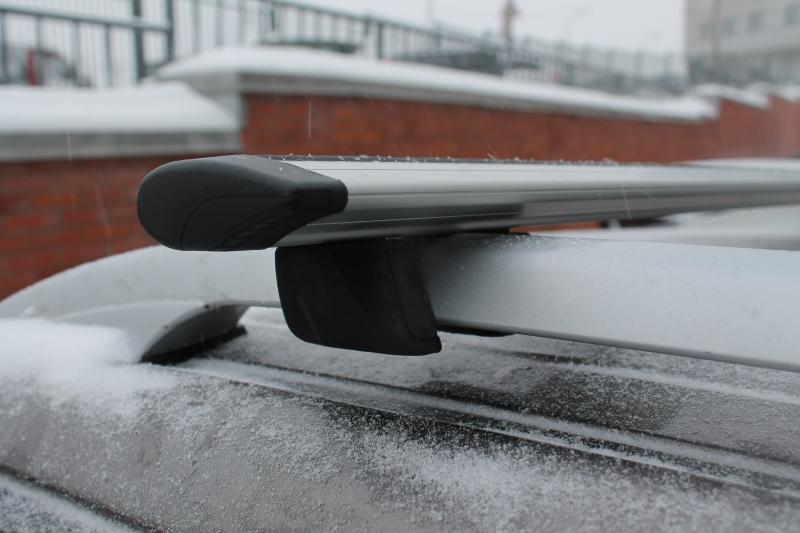 Багажник на рейлинги с АЭРОдинамическими КРЫЛОвидными поперечинами 140 см ( Inter Крепыш + Крыло 140 см )