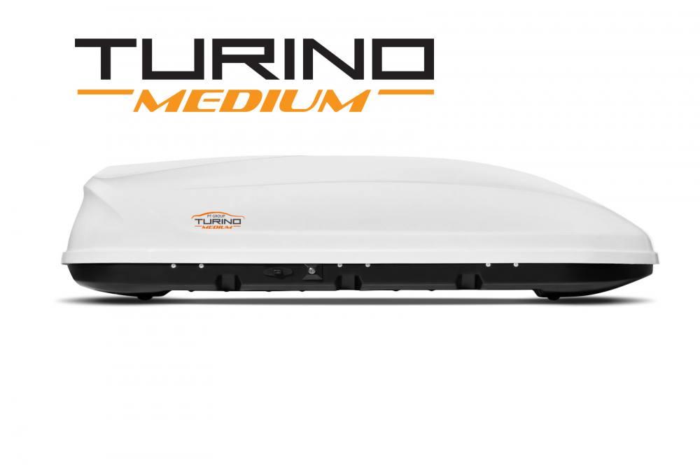 Автобокс на крышу Белый Turino Medium (460 л)