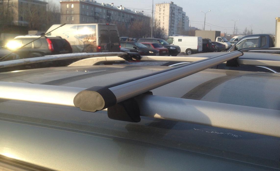 Багажник на рейлинги Inter Крепыш с АЭРОдинамическими поперечинами  120 см