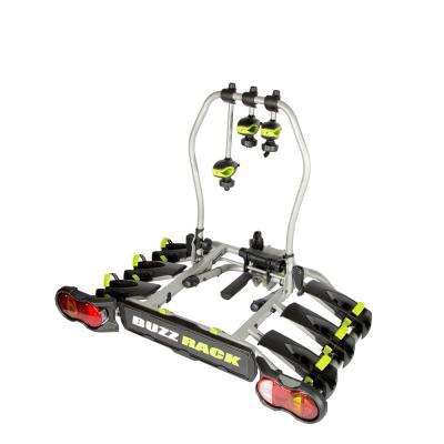 Велокрепление на фаркоп Buzzrack Spark 3 New для трех велосипедов.
