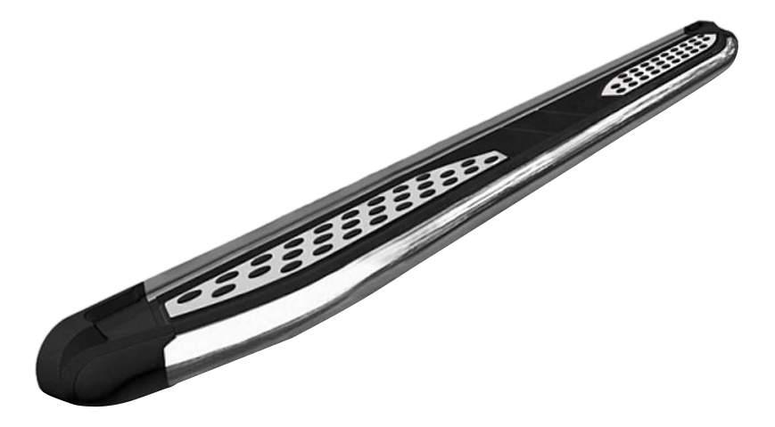 Пороги алюминиевые (Zirkon) Hyundai Tucson 2015+