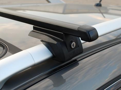 Багажная система LUX ЭЛЕГАНТ с дугами 1,2м прямоугольными в пластике для а/м с рейлингами