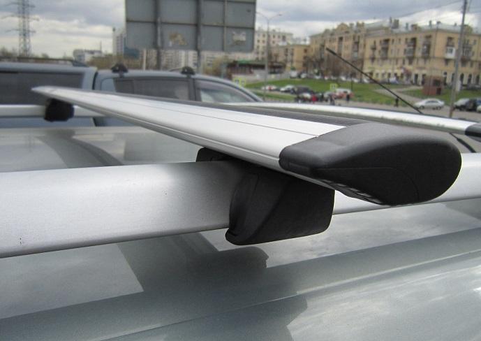 Багажник на рейлинги с АЭРОдинамическими КРЫЛОвидными поперечинами 120 см ( Inter Крепыш + Крыло 120 см )