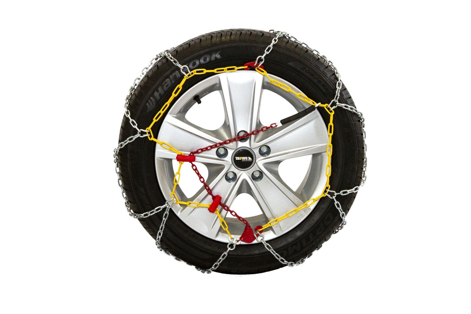 Комплект цепей противоскольжения Taurus Diament (12 мм) 80 ( звено ДСЗ 3,55мм ) с защитой литых дисков, Цепи на колёса Taurus Diament TDIA1280