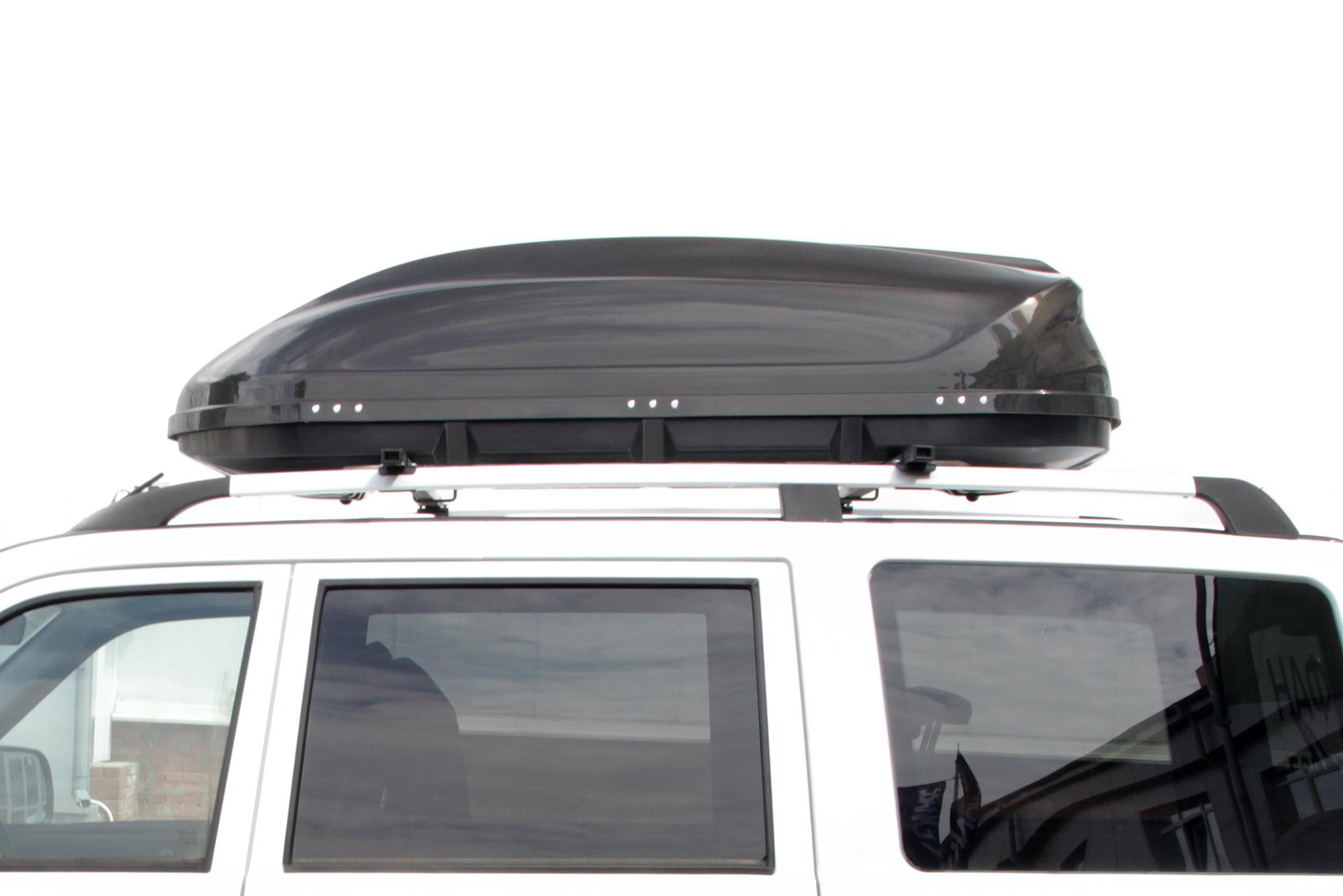Автомобильный бокс на крышу Turino 1 Lux  Черный глянец ONE (Арт.1708)