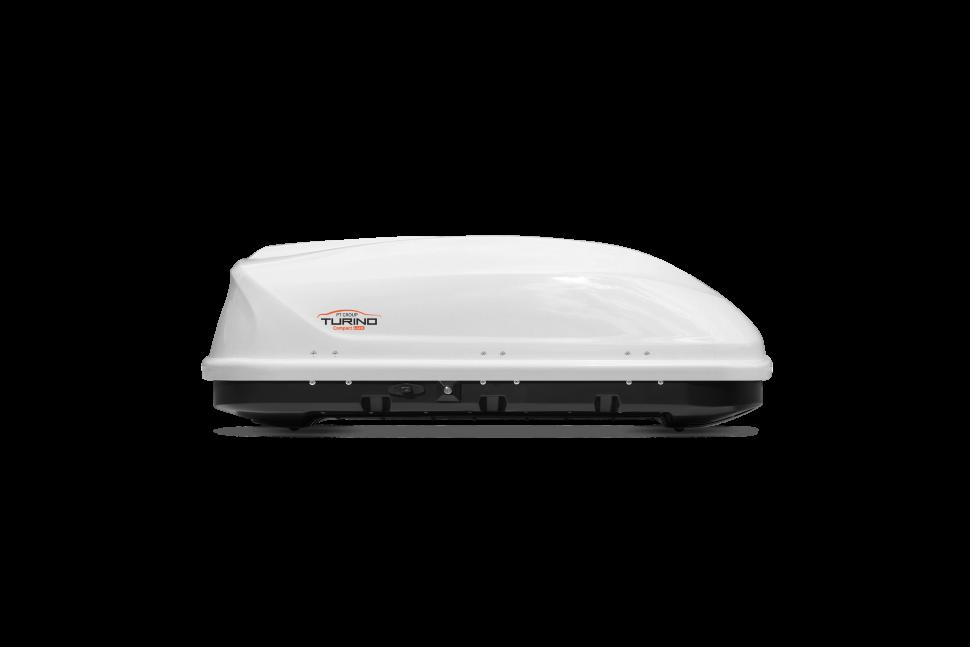 Автомобильный бокс на крышу Turino Compact Lux Белый глянец ONE (Арт.1728)