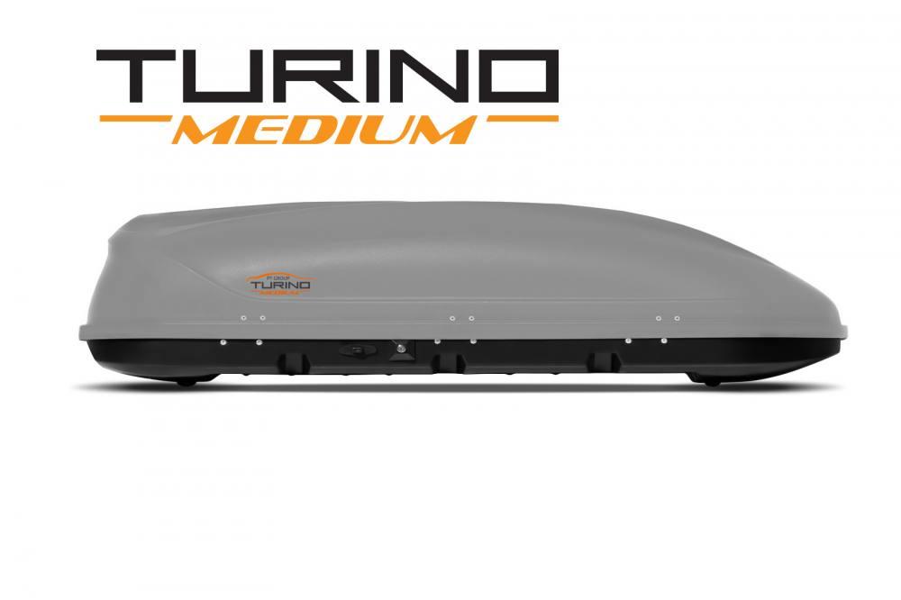 Автобокс на крышу Серый Turino Medium (460 л) Аэродинамический (Арт.1741)