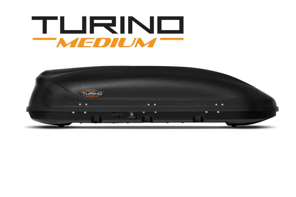 Автобокс на крышу Черный Turino Medium (460 л) Аэродинамический (Арт.1742)