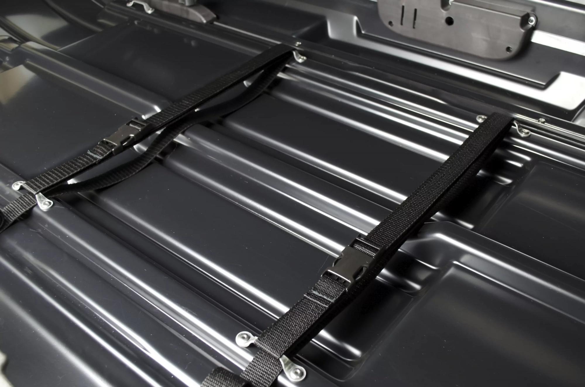 Автобокс Broomer Venture (L) Чёрный матовый с усилителем 430 литров (1870x890x400) - 146.02