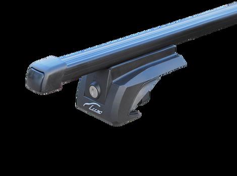 Багажная система LUX ЭЛЕГАНТ с дугами 1,3м прямоугольными в пластике для а/м с рейлингами