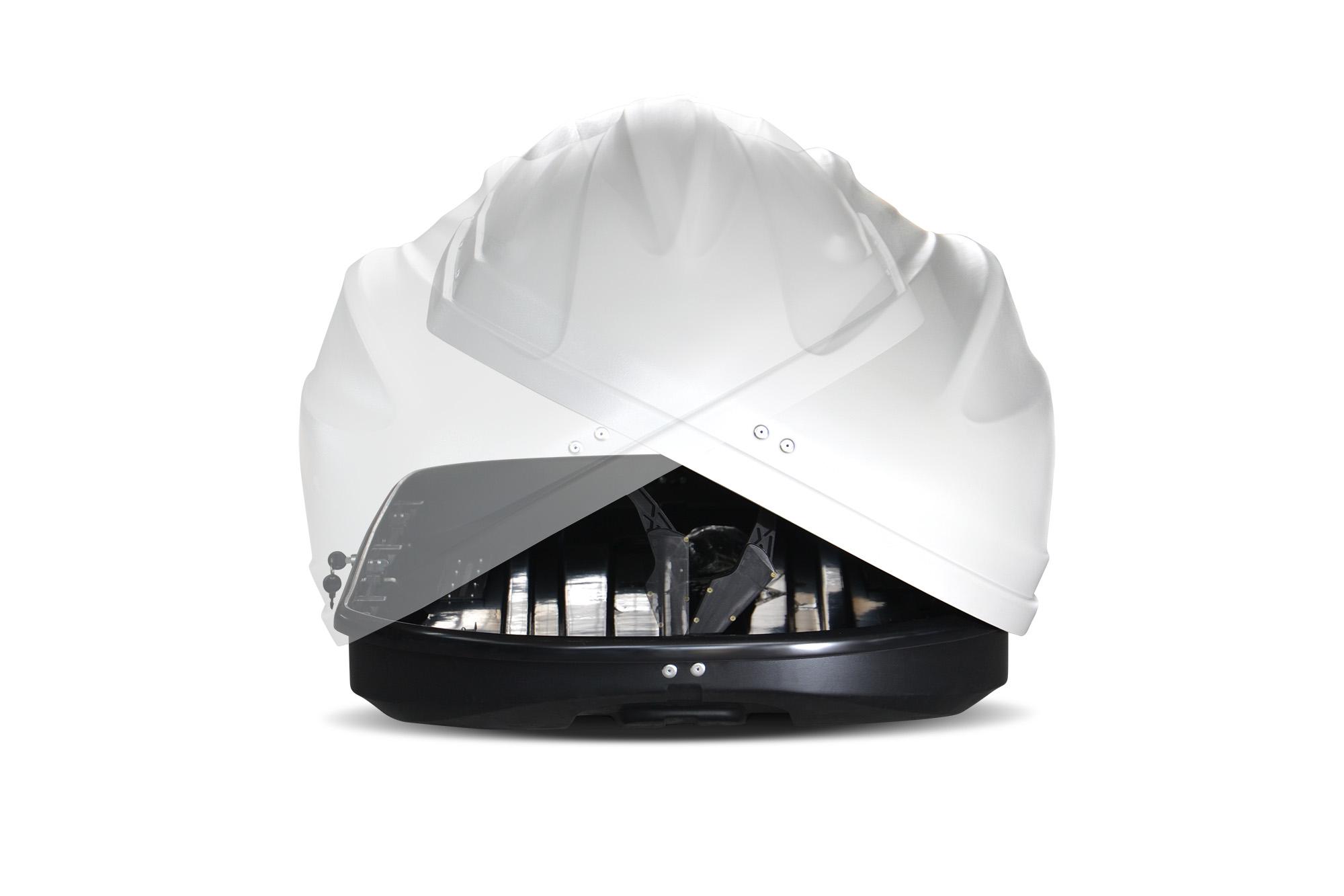 Автомобильный бокс на крышу Turino Compact Белый матовый DUO (Арт.2507)