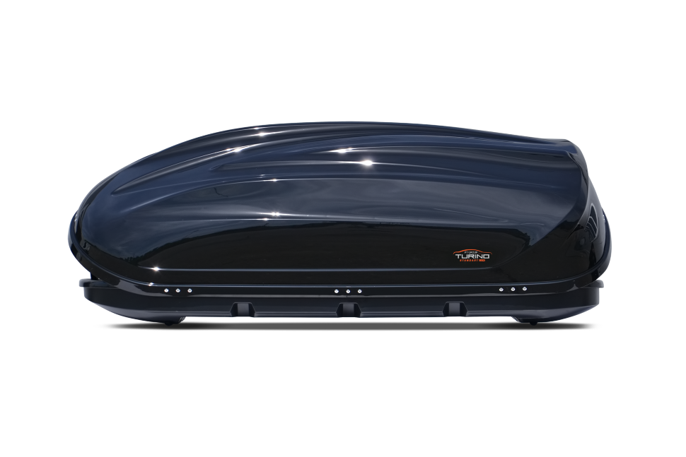 Автомобильный бокс на крышу Turino 1 Lux  Чёрный глянец  (DUO ) - 2515 ( 180 x 83 x 45 )