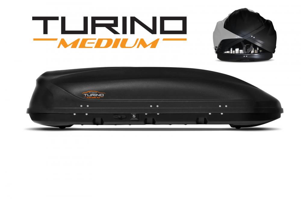 Автобокс на крышу Черный Turino Medium (460 л) Аэродинамический с двусторонним открыванием (Арт.2533)