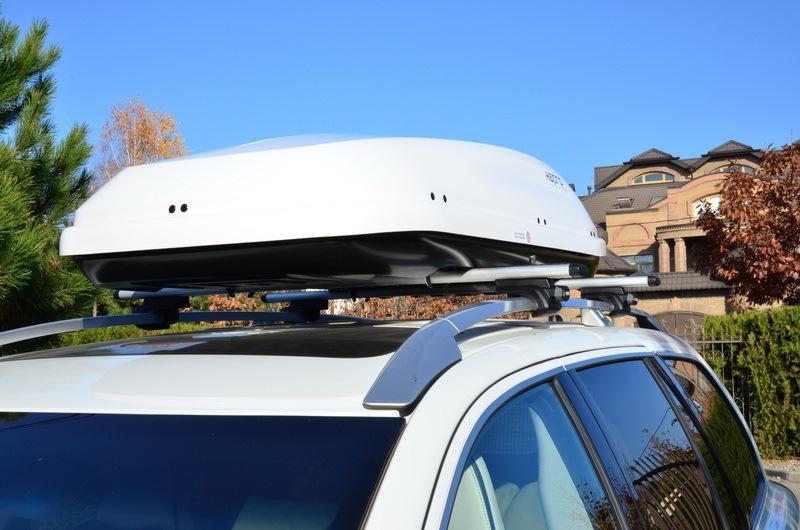 Автомобильный бокс Hapro Traxer 8.6 белый 215x90x43 см (Арт.26185)