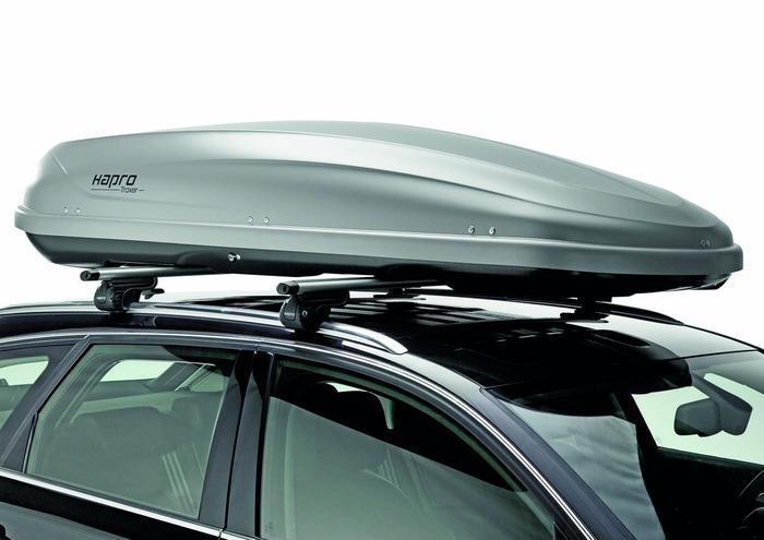 Автомобильный бокс Hapro Traxer 8.6 серый 215x90x43 см (Арт.35904)