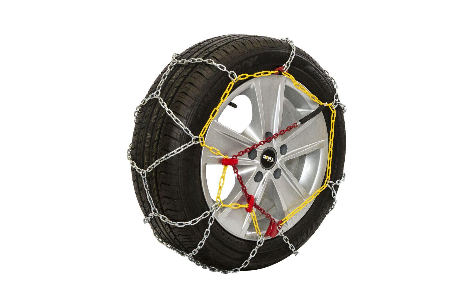 Комплект цепей противоскольжения Taurus 4x4 225 ВЗЦ-16мм ( звено ДСЗ 4,5мм ) с защитой литых дисков, Цепи на колёса Taurus Diament T4х4225