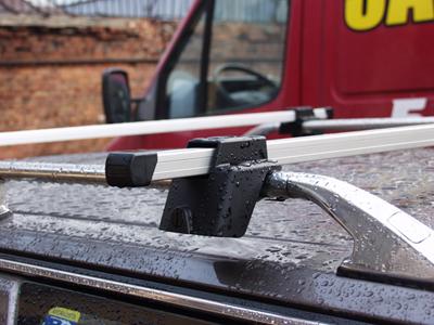 Багажник эконом-класса на рейлинги , длина 1350 мм. (алюминий), арт.8917