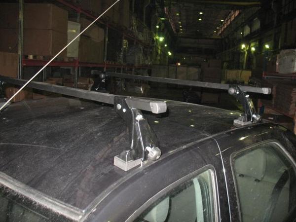 Багажник для Renault Logan (эконом-класс, с опорой на крышу, стальн.), арт.8918