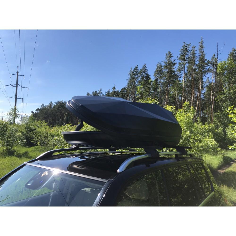 Автобокс Diamond 440 чёрный ( 182х83х42см ) двухстронний усиленный