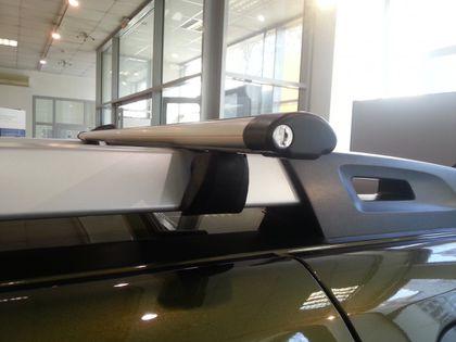 Багажная система Inter для Renault Duster ( Рено Дастер ) / KIA Mohave ( КИА МОХАВ ) / Nissan Pathfinder R51 ( Нисаан пасфаиндер р51 ) на рейлинги с АЭРОдинамическими поперечинами с замками
