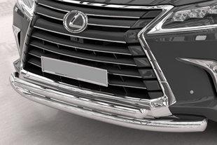 Защита переднего бампера Lexus LX570 (2015+) (двойная) d 76/60