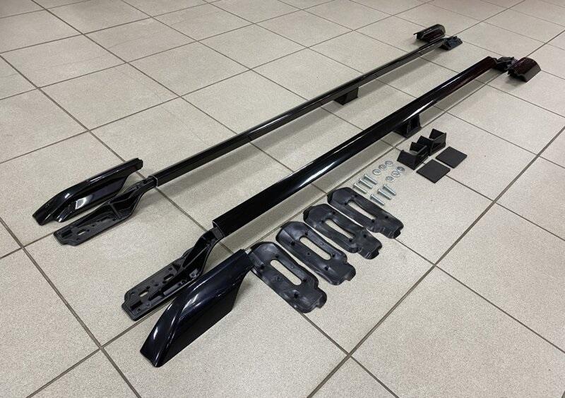 Рейлинги Can Otomotiv LRRR.73.1483 продольные для Land Rover RANGE ROVER VOGUE III ( L322 ) Black черные металлические опорные стойки 2002-2012 установка в штатные места
