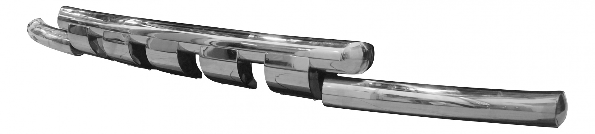 Защита переднего бампера MERCEDES X (двойная Shark) d76/76