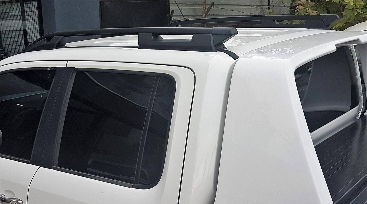 Рейлинги Can Otomotiv MIL2.73.1990 продольные для Mitsubishi L200 15> / FULLBACK 16>  Серия FALCON ROOF RAIL Цвет чёрный