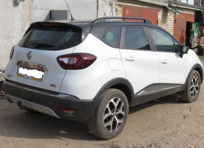 Рейлинги Can Otomotiv RECA.73.0010  продольные для Renault Captur BLACK в штатные отверстия (крепежи нержавеющая сталь)