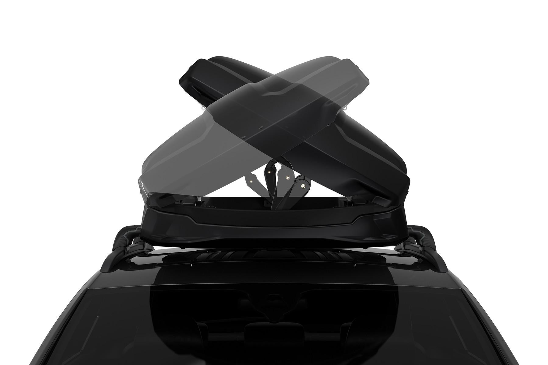 Автомобильный бокс Thule Vector M - Чёрный глянец ( 212 x 88 x 33 см ) - ( 360 литров ) - ( 613201 / 6132-01 / 6132-1 / 6132b )