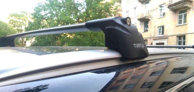 Багажная система на интегрированные рейлинги Turtle AIR2 Black 106sm