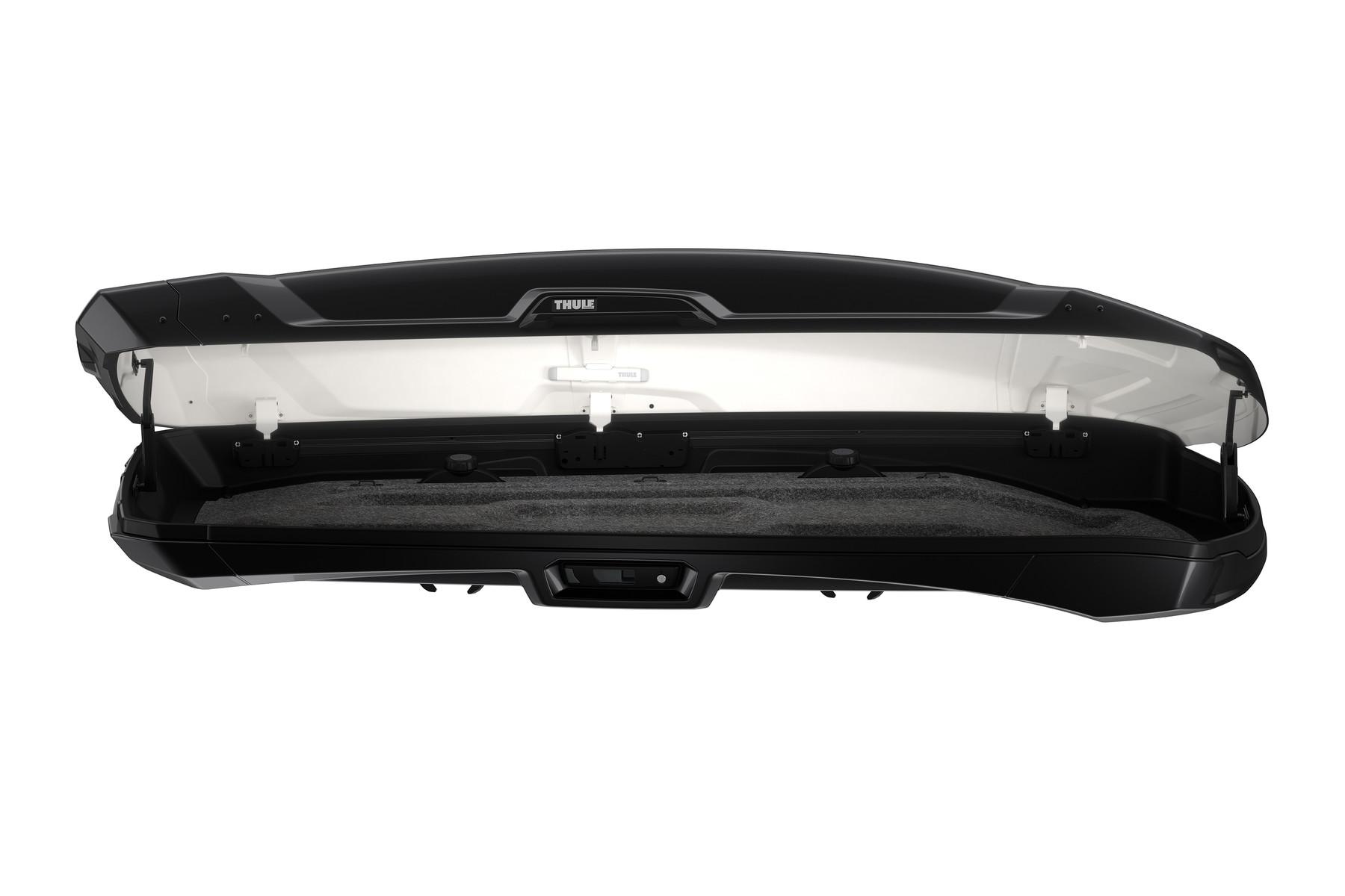 Автомобильный бокс Thule Vector Alpine ( 700 ) - Чёрный глянец ( 228 x 88.5 x 32 см ) - ( 380 литров ) - ( 613501 / 6135-01 / 6135-1 / 6135b )