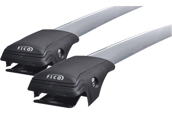 Багажник на рейлинги Fico R44 (серебристый)