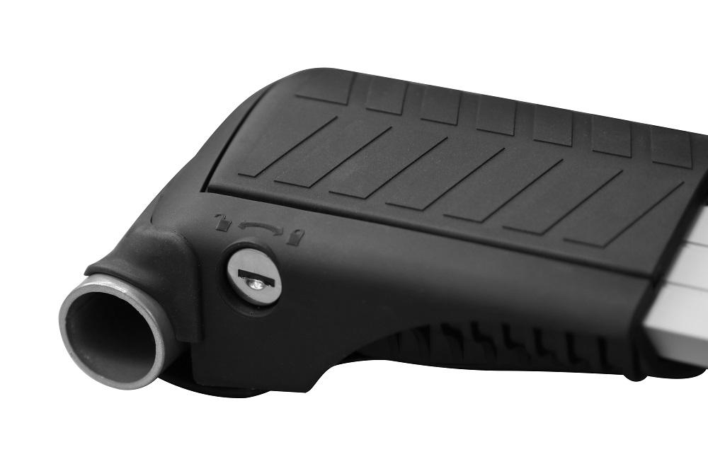 Багажник на рейлинги LUX Hunter L56-R ( Дуги серого цвета ) - Комбинированный - ( L46-R одна штука + L47-R одна штука )
