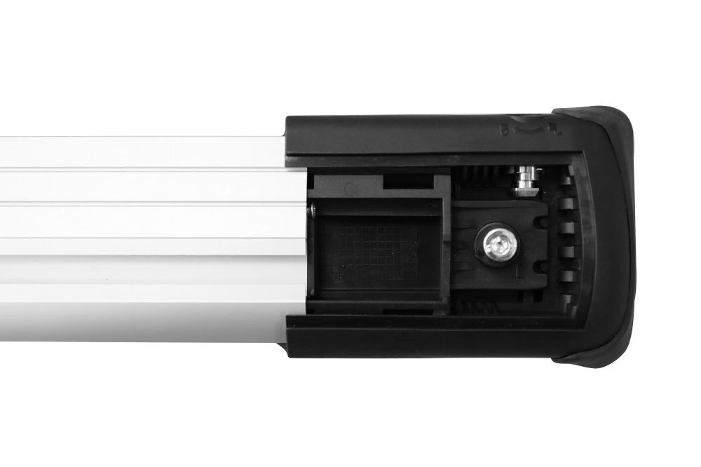 Багажник на рейлинги LUX Hunter L53-R ( Дуги серого цвета ) ( 791316 )  - Комбинированный - ( L43-R одна штука + L44-R одна штука )