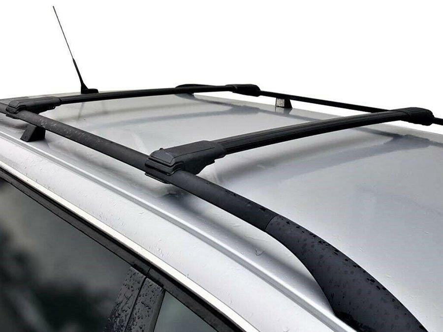 Багажная система на рейлинги с просветом Turtle Shark V1 с поперечинами чёрного цвета ( BLACK 106 )