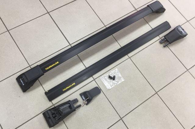 Багажник на интегрированные рейлинги Can Otomotiv ( Can Carry ) - серия Tourmaline V2-106 Black - крыловидные поперечины с замками и без выступающих краёв