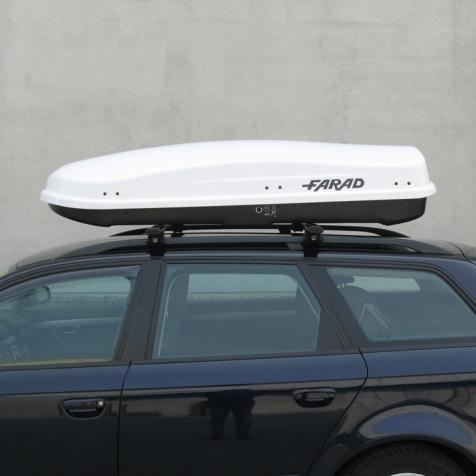 Бокс FARAD ZEUS 480L - Белый глянец - двухстронний - усиленный ( Фарад Зевс 480 ) - ( 190 x 80 x 42 см )