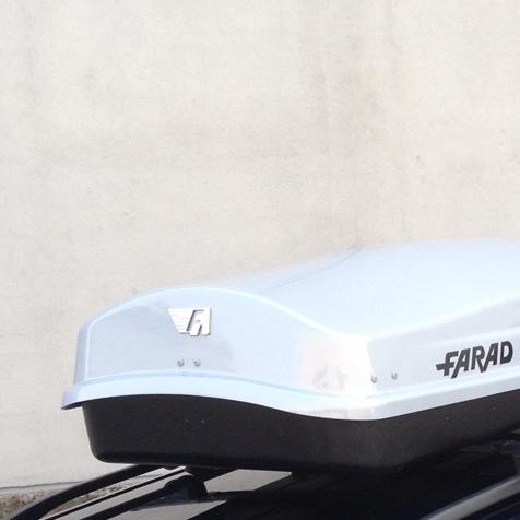 Бокс FARAD ZEUS 630L - Серебристый глянец - двухстронний - усиленный ( Фарад Зевс 630 ) - ( 210 x 90 x 42 см )