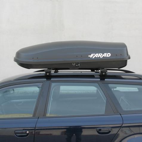 Бокс FARAD ZEUS 400L - Чёрный матовый - двухстронний - усиленный ( 90 кг ) - (Фарад Зевс 400 )